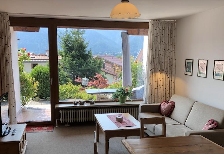 Haus Dippold, Reit im Winkl, Dzīvokļnumurs, terase, Dzīvojamā zona