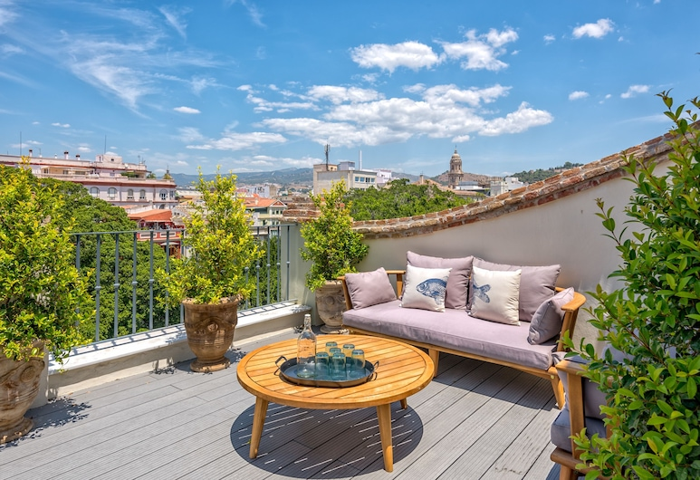 iloftmalaga Premium Alameda Principal, Málaga, Penthouse, 2 slaapkamers, bubbelbad, Uitzicht op de stad (5B), Terras