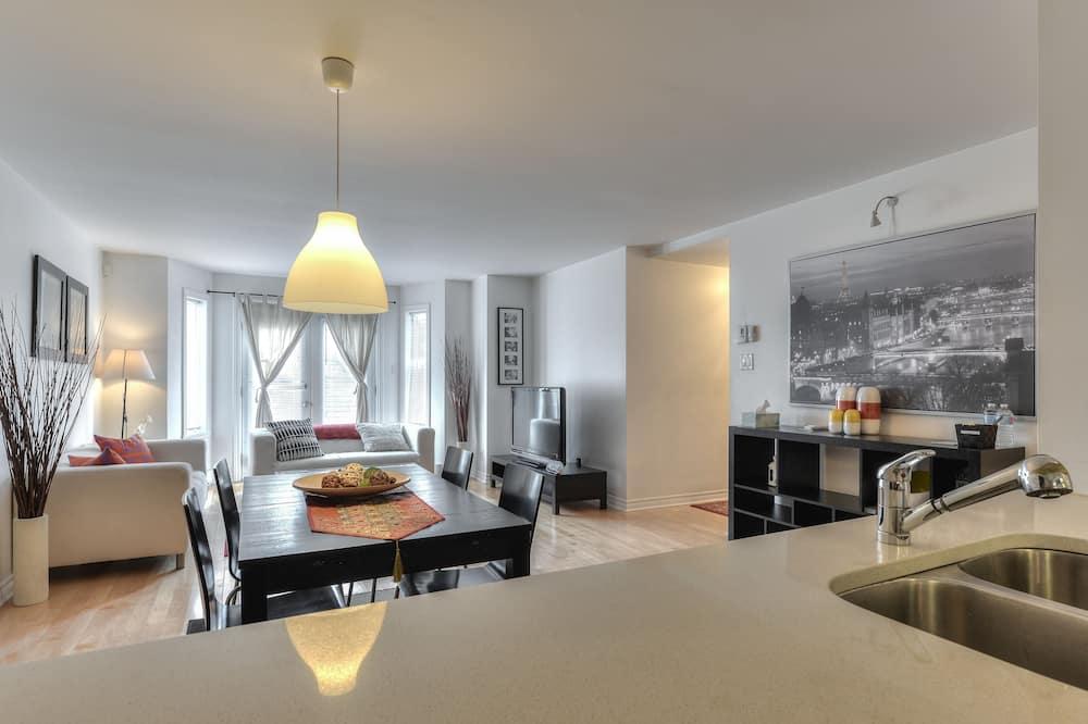 อพาร์ทเมนท์, 2 ห้องนอน, ห้องครัว (St Jacques) - ห้องนั่งเล่น
