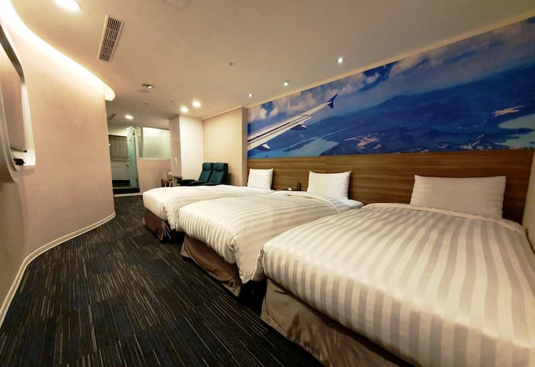 西門航棧商旅, 台北市, 豪華三人房, 高層, 客房