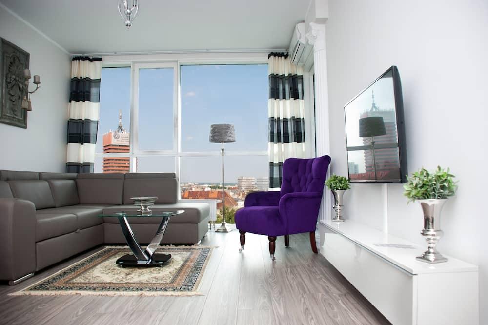 Apartament typu Deluxe, 2 sypialnie, wysokie piętro - Pokój