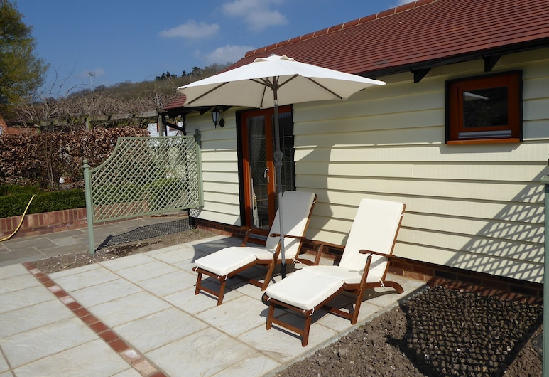 Handywater Cottage B&B, เฮนลีย์ออนเทมส์, ห้องซูพีเรียดับเบิล, เตียงคิงไซส์ 1 เตียง, ลานระเบียง/นอกชาน