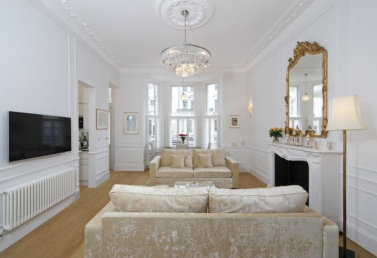 Luxurious 1BR Period Property in Kensington, London, Apartment, 1 Schlafzimmer, Wohnzimmer