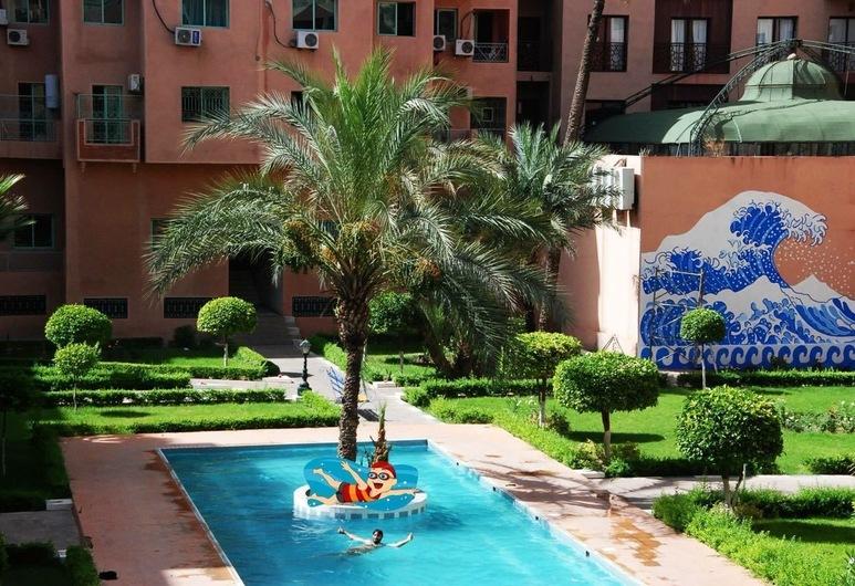 Appartement 1 Résidence Manis Marrakech, Marrakech, בריכה חיצונית