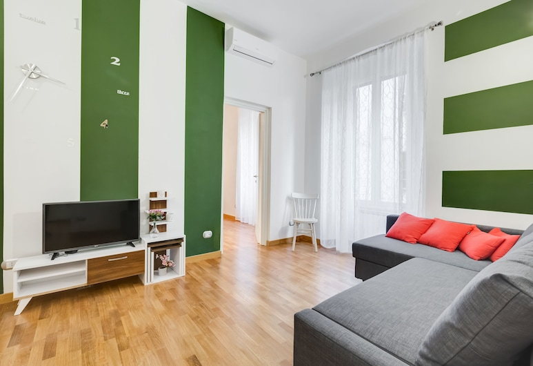 San Cosimato House, Rome, Apartment, Living Area