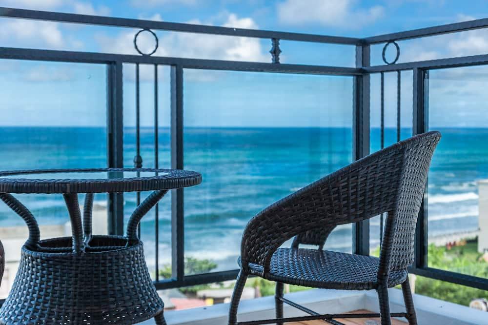 Pokój dla 4 osób Panoramic, 2 łóżka podwójne, przystosowanie dla niepełnosprawnych, widok na ocean - Z widokiem na balkon