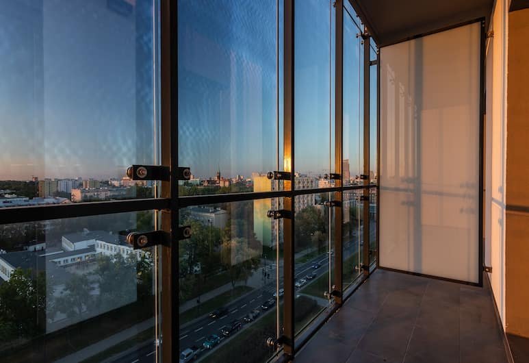 Vola Residence, Варшава, Апартаменты «Комфорт», для некурящих, вид на город, Номер