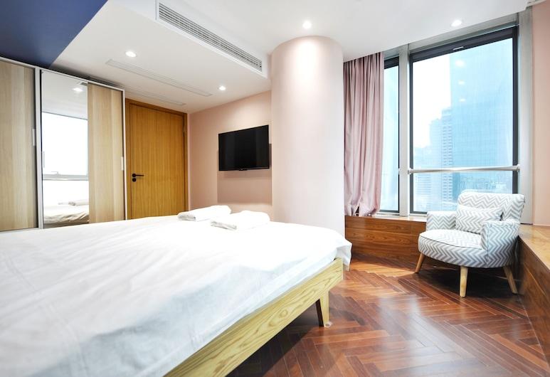 Hiroom Apartment - North Shanxi Road, Shanghái, Departamento de diseño, Habitación