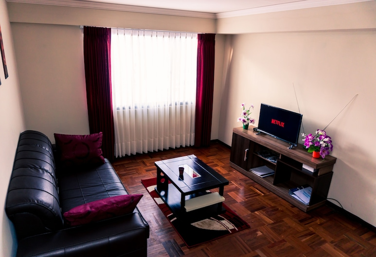 Brussels & Atomium Apartment, ลาปาซ, คอมฟอร์ทอพาร์ทเมนท์, 1 ห้องนอน, ห้องครัว (Brussels Apartment), ห้องนั่งเล่น