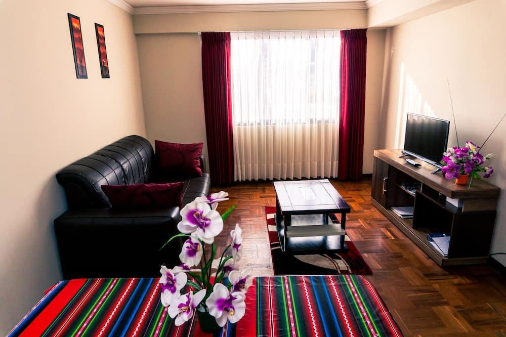 Comfort Apartment, 1 Bedroom, Kitchen (Brussels Apartment) - Living Room