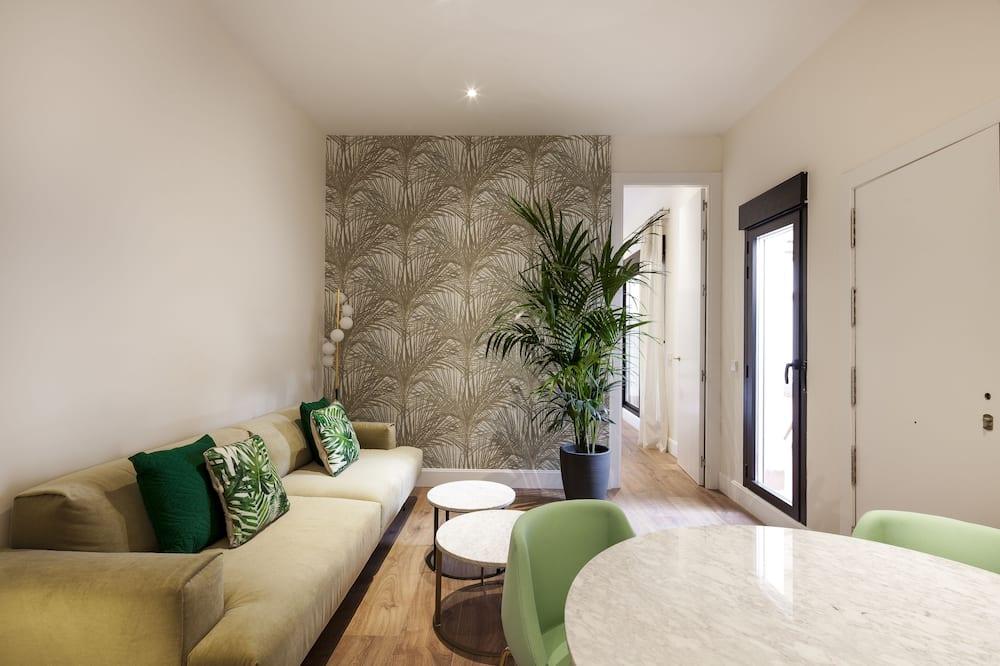 شقة ديلوكس - غرفتا نوم (Terrace) - منطقة المعيشة