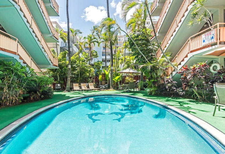 와이키키 젬 - 투 베드룸 콘도, 호놀룰루, 야외 수영장