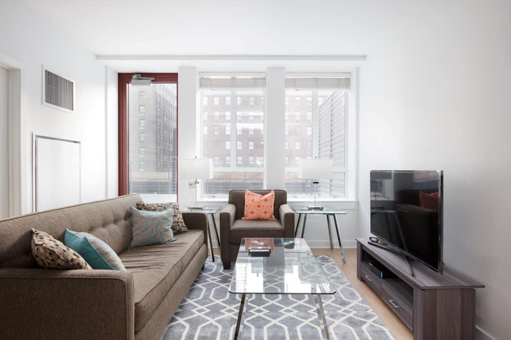Luxury-Apartment, 1 Schlafzimmer - Wohnzimmer