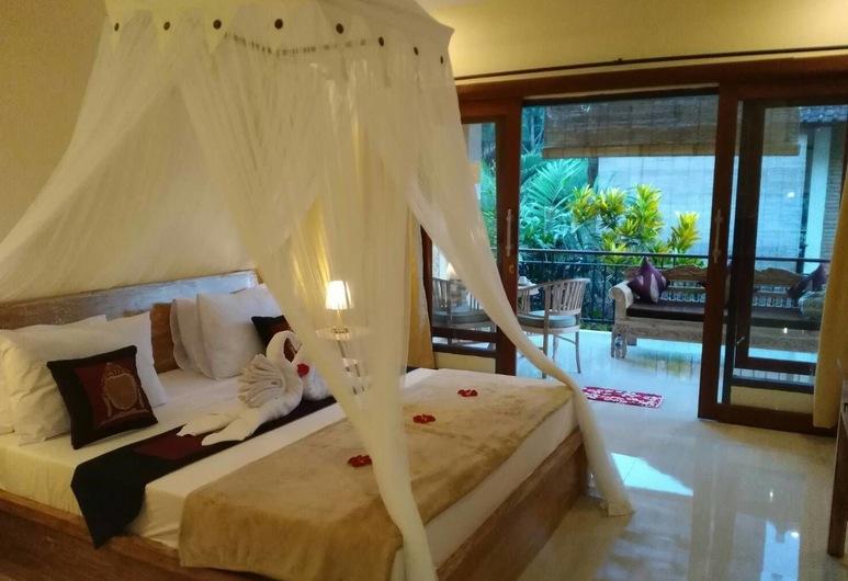 Qiul Guest House, Ubud, Standartinio tipo dvivietis kambarys, balkonas, Svečių kambarys