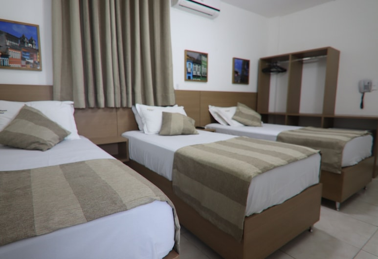 Hotel Dom Passos, Salvador, Standard Triple Room, 3 Twin Beds, Non Smoking, Guest Room