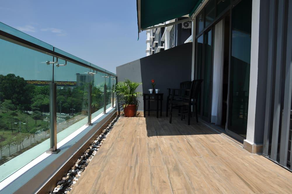 Aukščiausios klasės apartamentai, 2 miegamieji - Balkonas