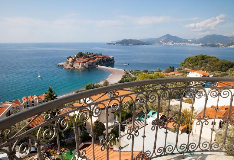 Villa Edelweiss, Sveti Stefan, Panoramic Studio, Sea View, Balcony