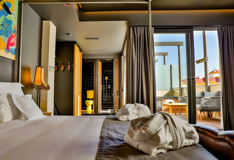 Hotel Lobby Room, Seville, Ateliérový apartmán, terasa (Jacuzzi), Hosťovská izba