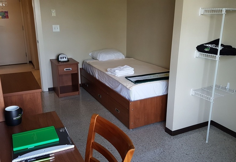 Backpacker College @ The University of Fraser Valley, אבוטספורד, חדר, מיטת יחיד, חדר רחצה משותף (Linens not provided), חדר אורחים
