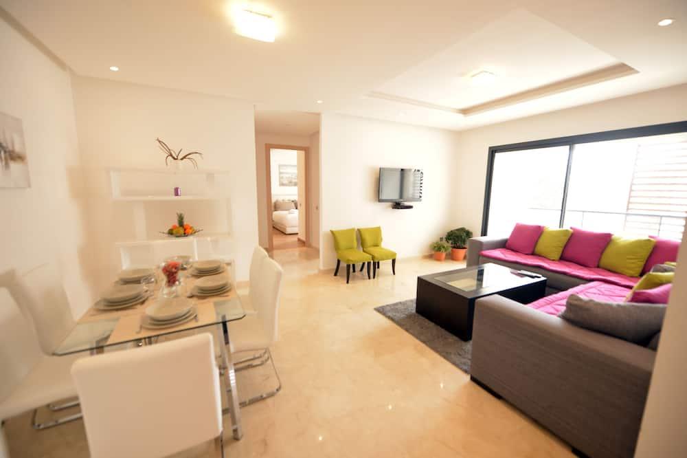 דירת סיטי, 2 חדרי שינה, ללא עישון, מטבח (3056) - אזור מגורים