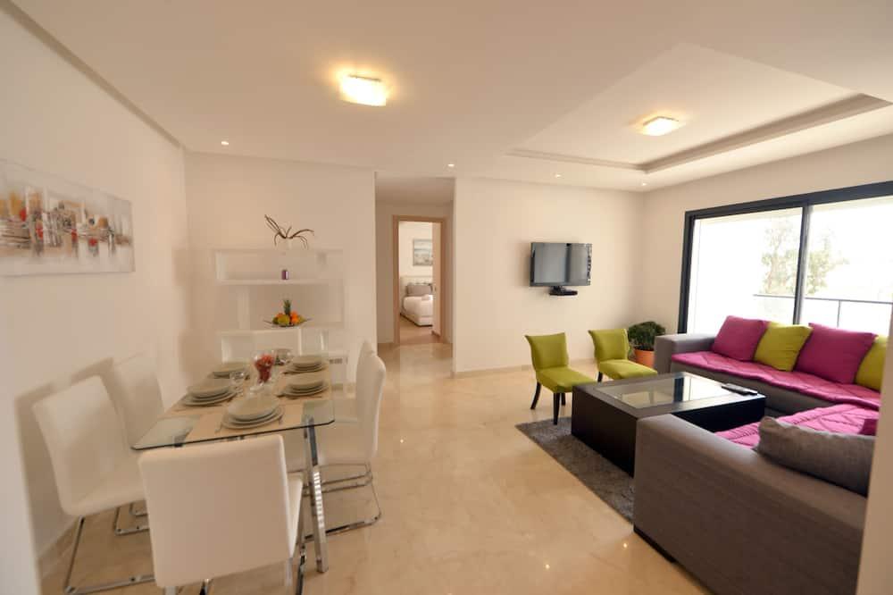 דירת סיטי, 2 חדרי שינה, ללא עישון, מטבח (3056) - אזור אוכל בחדר