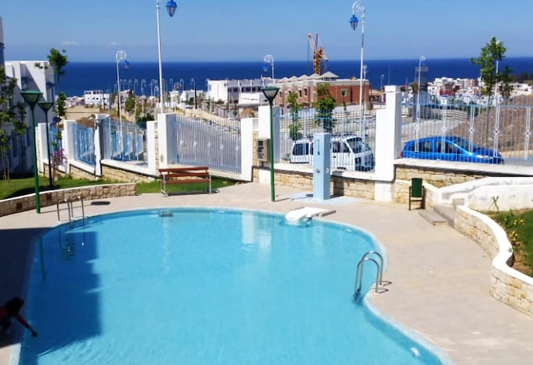 Apartment With one Bedroom in Tetouan, With Wonderful City View, Shared Pool and Balcony, M'diq, Ranta-/merinäköala