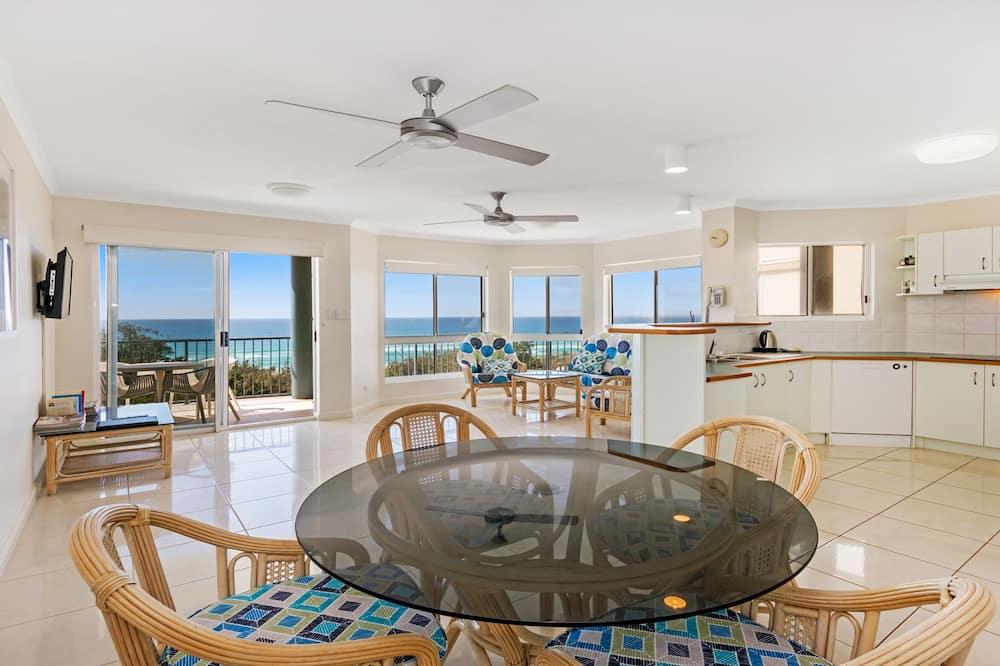 Apartment, 2Schlafzimmer, Strandblick - Essbereich im Zimmer