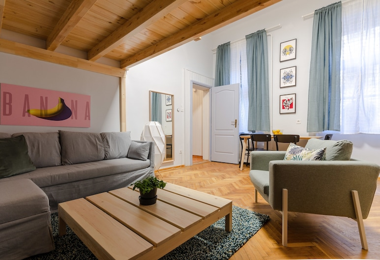 Ajowan Apartment, Βουδαπέστη, Στούντιο, 1 Queen Κρεβάτι με Καναπέ-Κρεβάτι, Περιοχή καθιστικού