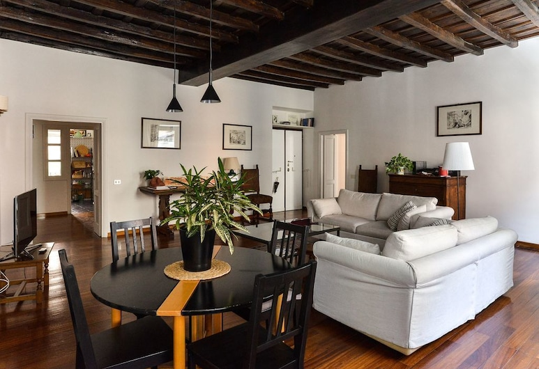 Spanish Steps Apartment, Rome, Apartment, 1 Bedroom, Living Area