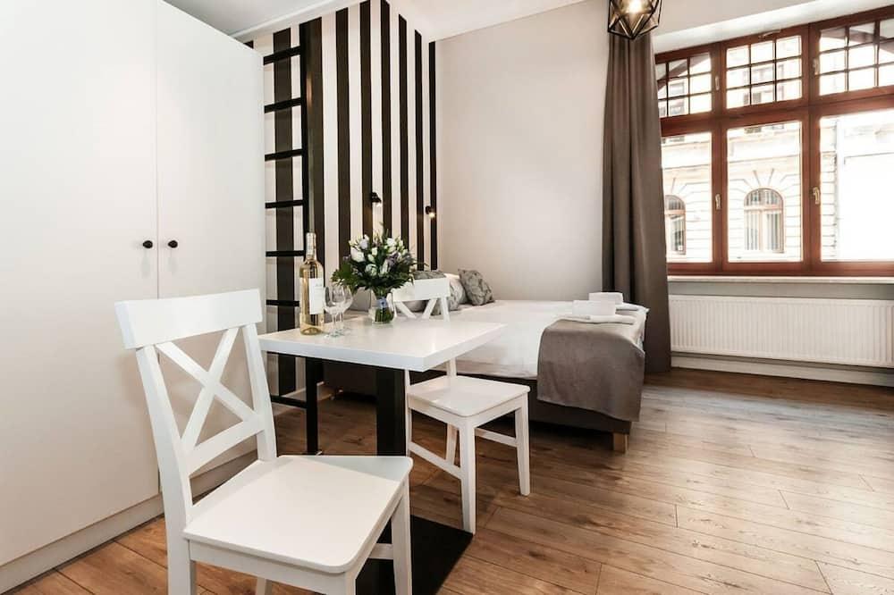Comfort-Studio, 1 Schlafzimmer, Kochnische - Blick auf die Straße