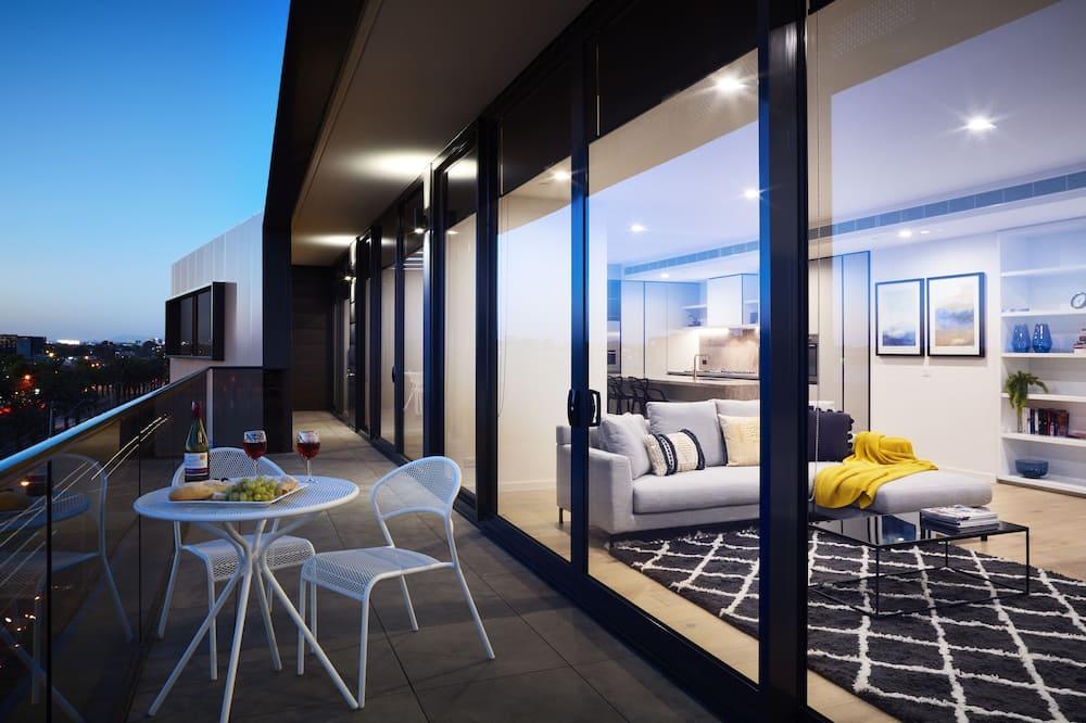 Apartemen Deluks, 3 kamar tidur, pemandangan kota - Balkon