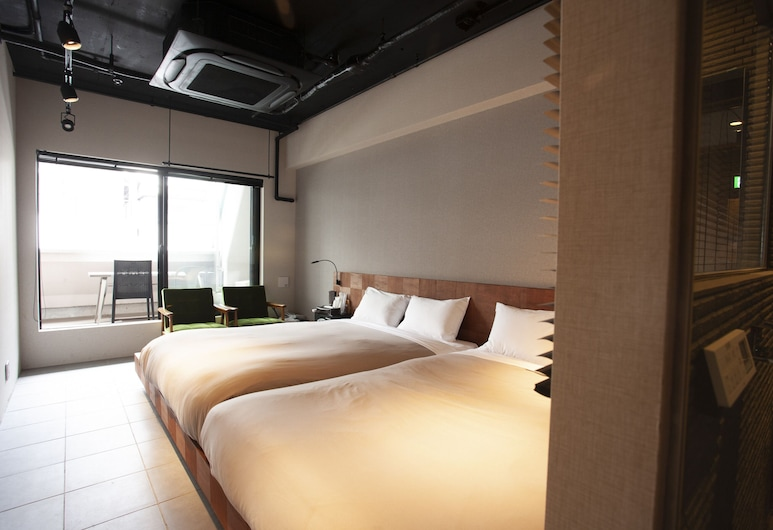 Hotel & Hostel SEVEN GARDEN Tokyo Asakusa, Tokyo, Family Quadruple Room, 2 Double Beds, Private Bathroom, Guest Room