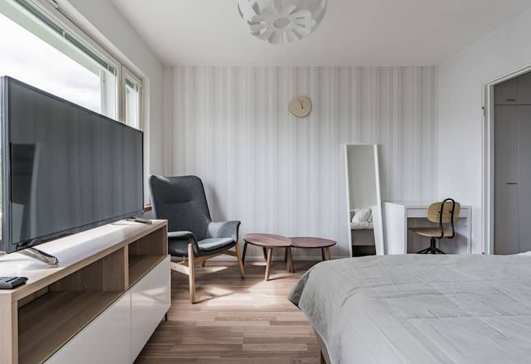 Local Nordic Apartments - Puffin, Jyvaskyla, Apartemen Bisnis, non-smoking, dapur, Ruang Keluarga