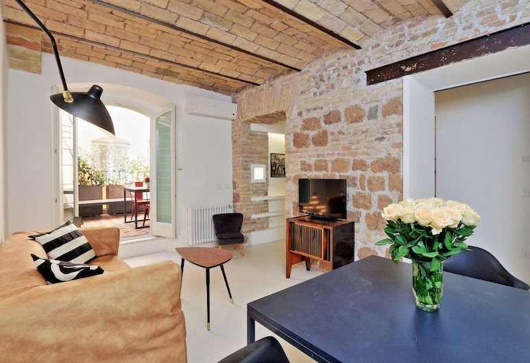 Design Flat for 4 people near Colosseum, Rom, Apartment, 1 Bedroom, Bilik Rehat