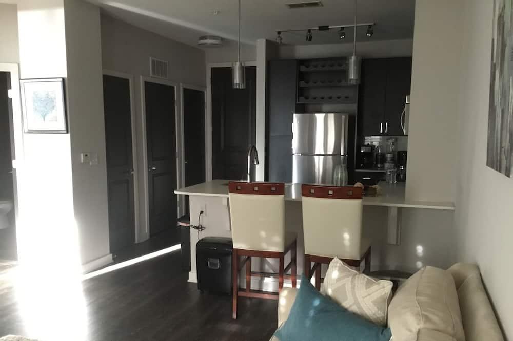 דירה דה-לוקס, מיטת קווין, נגישות לנכים - אזור מגורים