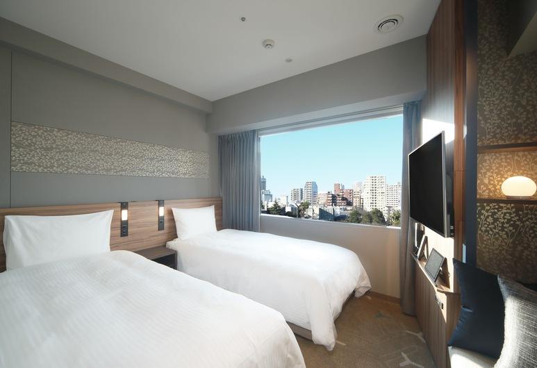 東京高輪都城市酒店, Tokyo, 舒適雙床房, 2 張單人床, 非吸煙房, 城市景, 客房