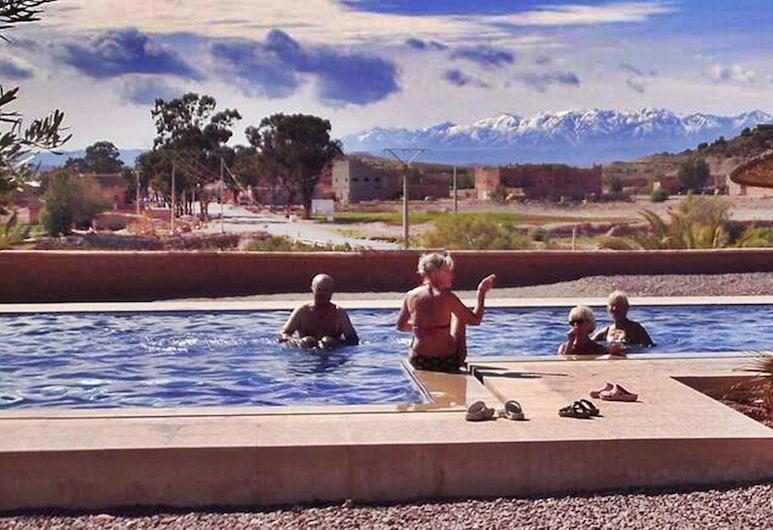 Hotel Camping de L'escale, Ait Benhaddou, Habitación familiar, Varias camas (5 Pax), Piscina al aire libre