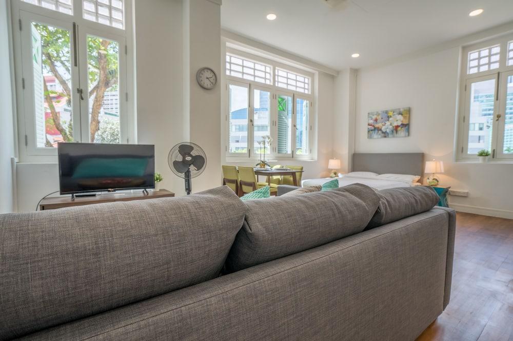 Basic Studio, 1 Queen Bed - Living Area