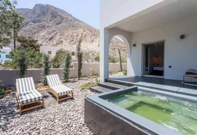 Aegean Gem, Santorini, Suite, bubbelbad, Terras