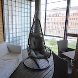 Luksushuoneisto, 2 makuuhuonetta, Sauna, Kaupunkinäköala - Terassi/patio