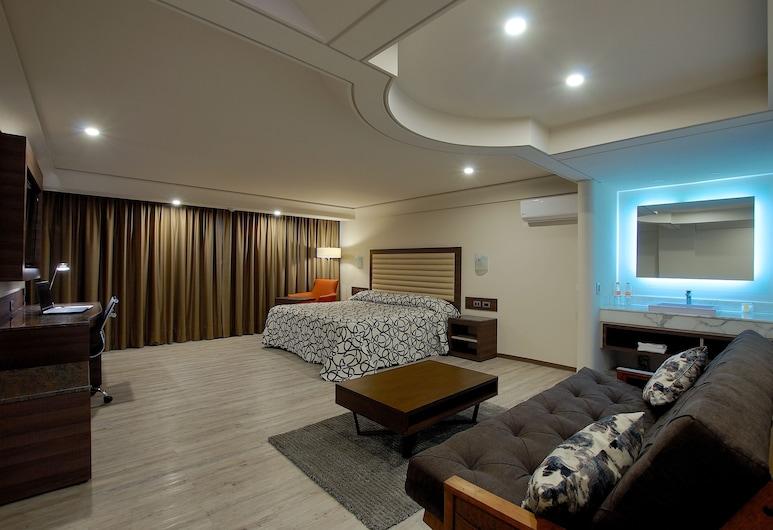 Econo Express Hotel, Mexico City, Apartament typu Deluxe Suite, Łóżko king, Widok z pokoju