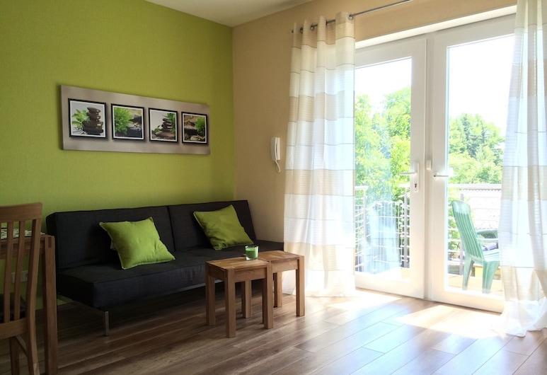 Ferienwohnung Mayer, Rangsdorf, Apartment, Balcony, Living Area