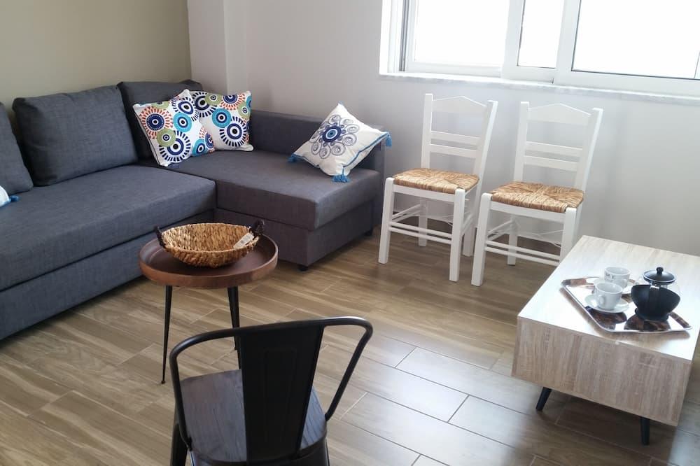 Paaugstināta komforta dzīvokļnumurs, skats uz pludmali - Dzīvojamā istaba