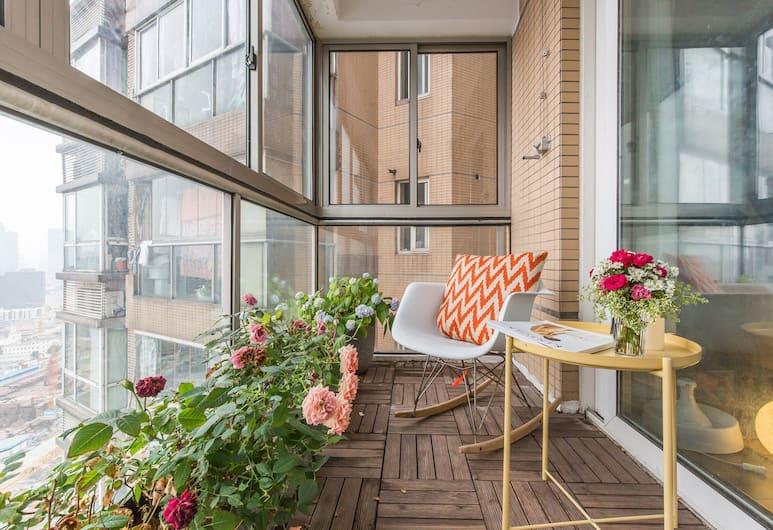 外灘北歐風美景之家, 上海市, 外灘北歐風180度景觀公寓, 露台
