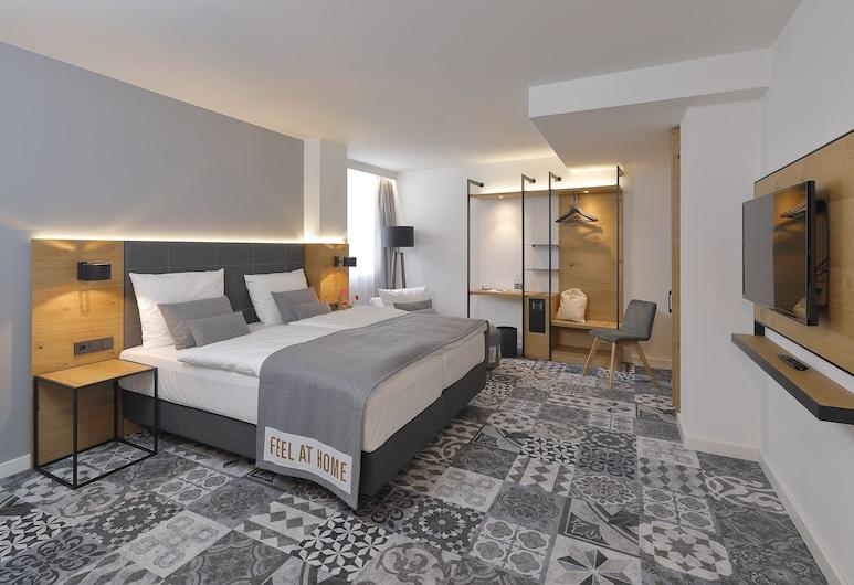 โรงแรมคอฟฟี เฟลโลส์ ดอร์ทมุนด์, ดอร์ทมุนด์, ห้องดับเบิล, เตียงคิงไซส์ 1 เตียง, ห้องพัก