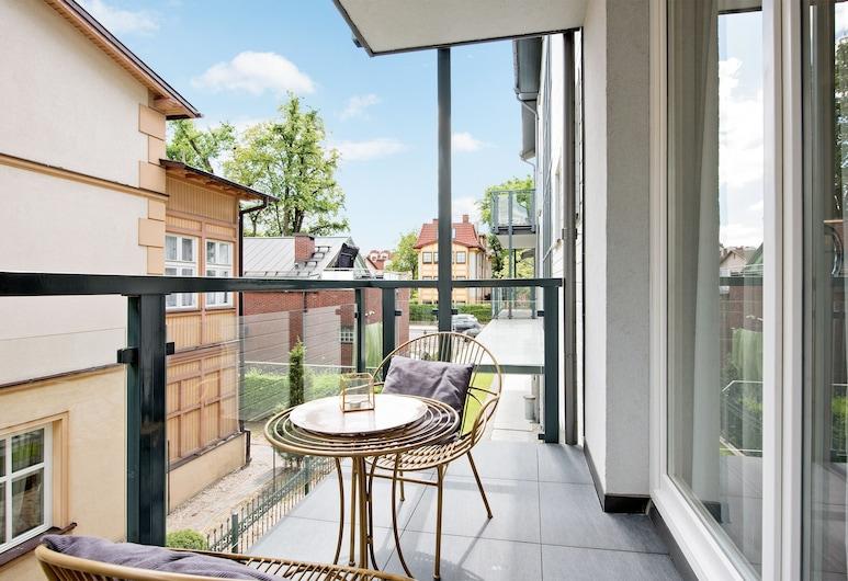 Lion Apartments -Monte Carlo Deluxe, Sopot, Deluxe-Apartment, Nichtraucher, Balkon