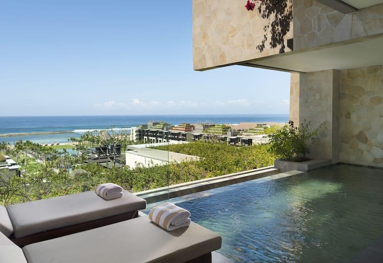디 아프루바 켐핀스키 발리, 누사두아, 주니어 스위트, 전용 수영장, 바다 전망 (Cliff), 해변/바다 전망