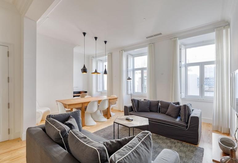 Boutique Chiado Apartments, Lisbonne, Appartement, 3 chambres (Wood), Coin séjour