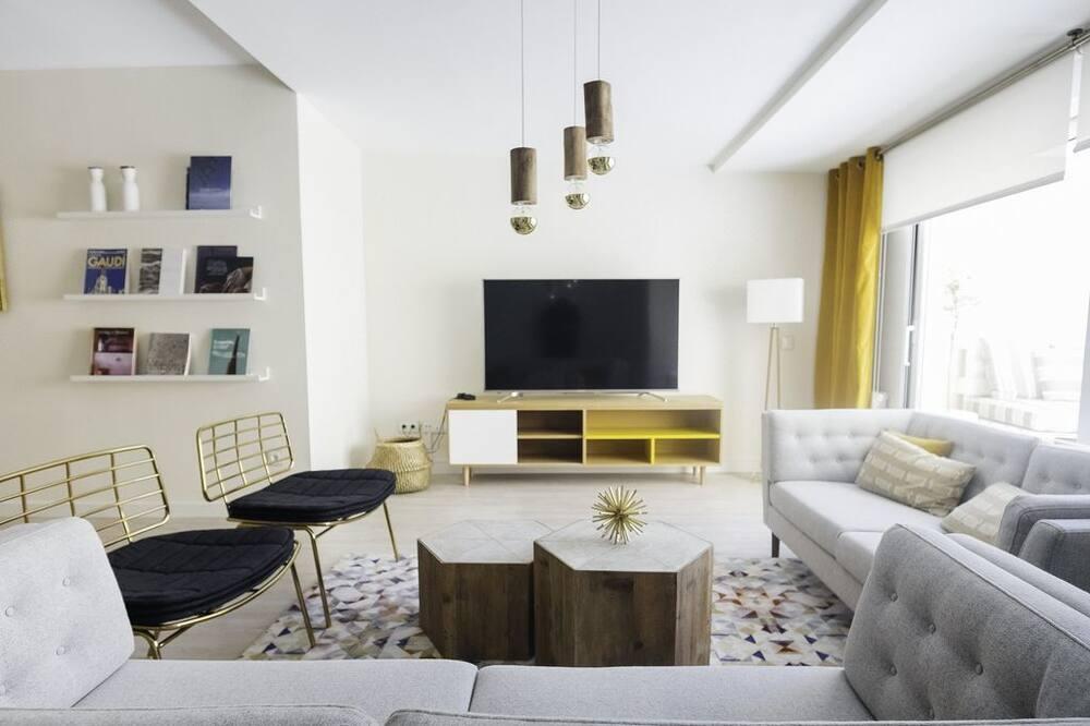Apartamentai, 4 miegamieji, terasa (4ª Derecha) - Svetainės zona