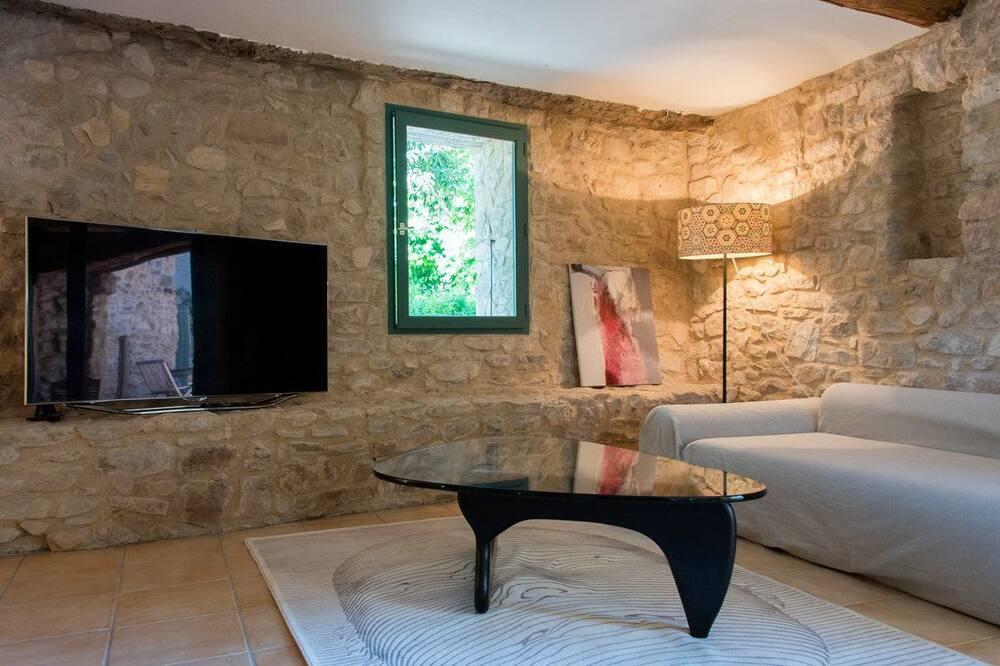Deluxe Suite, 1 King Bed, Vineyard View - Living Area